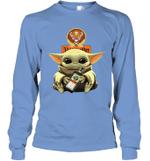 Baby Yoda Loves Jägermeister The Mandalorian Fan Long Sleeve T-Shirt