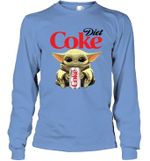 Baby Yoda Loves Diet Coke The Mandalorian Fan Long Sleeve T-Shirt