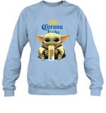 Baby Yoda Loves Corona Light Beer The Mandalorian Fan Sweatshirt