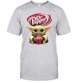 Baby Yoda Loves Dr Pepper Soda The Mandalorian Fan T-Shirt