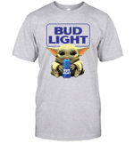 Baby Yoda Loves Bud Light Beer The Mandalorian Fan T-Shirt