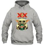Baby Yoda Loves Dos Equis Beer The Mandalorian Fan Hoodie