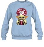 Baby Yoda Loves Costa Coffee The Mandalorian Fan Sweatshirt