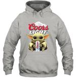 Baby Yoda Loves Coors Light Beer The Mandalorian Fan Hoodie