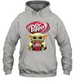 Baby Yoda Loves Dr Pepper Soda The Mandalorian Fan Hoodie