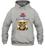Baby Yoda Loves Crown Royal The Mandalorian Fan Hoodie
