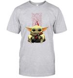 Baby Yoda Loves Apothic The Mandalorian Fan T-Shirt