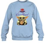 Baby Yoda Loves Crown Royal The Mandalorian Fan Sweatshirt