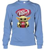 Baby Yoda Loves Dr Pepper Soda The Mandalorian Fan Long Sleeve T-Shirt
