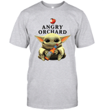 Baby Yoda Loves Angry Orchard Crisp Hard Cider The Mandalorian Fan T-Shirt