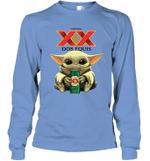 Baby Yoda Loves Dos Equis Beer The Mandalorian Fan Long Sleeve T-Shirt