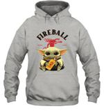 Baby Yoda Loves Fire Ball The Mandalorian Fan Hoodie