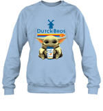 Baby Yoda Loves Dutch Bros Coffee The Mandalorian Fan Sweatshirt