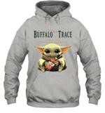 Baby Yoda Loves Buffalo Trace The Mandalorian Fan Hoodie