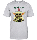Baby Yoda Loves Jameson Irish Whiskey The Mandalorian Fan T-Shirt