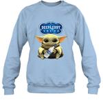 Baby Yoda Loves Deep Eddy The Mandalorian Fan Sweatshirt
