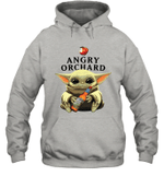 Baby Yoda Loves Angry Orchard Crisp Hard Cider The Mandalorian Fan Hoodie