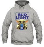 Baby Yoda Loves Bud Light Beer The Mandalorian Fan Hoodie