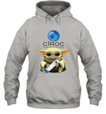 Baby Yoda Loves CIROC The Mandalorian Fan Hoodie
