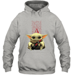 Baby Yoda Loves Apothic The Mandalorian Fan Hoodie