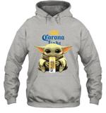 Baby Yoda Loves Corona Light Beer The Mandalorian Fan Hoodie