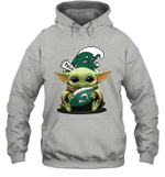 Baby Yoda Hug Tulane Green Wave The Mandalorian Hoodie