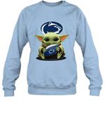Baby Yoda Hug Penn State Nittany Lions The Mandalorian Sweatshirt