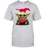 Baby Yoda Hug SMU Mustangs The Mandalorian T-Shirt