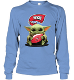 Baby Yoda Hug Western Kentucky Hilltoppers The Mandalorian Long Sleeve T-Shirt