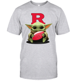 Baby Yoda Hug Rutgers Scarlet Knights The Mandalorian T-Shirt