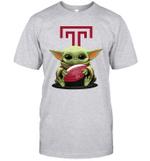 Baby Yoda Hug Temple Owls The Mandalorian T-Shirt