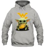 Baby Yoda Hug West Virginia Mountaineers The Mandalorian Hoodie