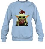 Baby Yoda Hug Texas State Bobcats The Mandalorian Sweatshirt