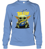 Baby Yoda Hug Toledo Rockets The Mandalorian Long Sleeve T-Shirt
