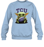 Baby Yoda Hug TCU Horned Frogs The Mandalorian Sweatshirt