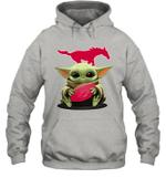 Baby Yoda Hug SMU Mustangs The Mandalorian Hoodie