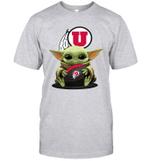 Baby Yoda Hug Utah Utes The Mandalorian T-Shirt