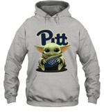 Baby Yoda Hug Pittsburgh Panthers The Mandalorian Hoodie