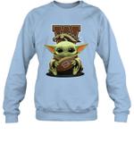 Baby Yoda Hug Western Michigan Broncos The Mandalorian Sweatshirt