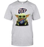 Baby Yoda Hug UTEP Miners The Mandalorian T-Shirt