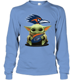 Baby Yoda Hug UTSA Roadrunners The Mandalorian Long Sleeve T-Shirt