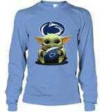 Baby Yoda Hug Penn State Nittany Lions The Mandalorian Long Sleeve T-Shirt