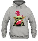Baby Yoda Hug Ole Miss Rebels The Mandalorian Hoodie