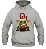 Baby Yoda Hug Oklahoma Sooners The Mandalorian Hoodie
