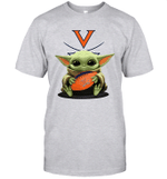 Baby Yoda Hug Virginia Cavaliers The Mandalorian T-Shirt