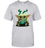 Baby Yoda Hug South Florida Bulls The Mandalorian T-Shirt