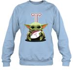 Baby Yoda Hug Troy Trojans The Mandalorian Sweatshirt