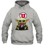 Baby Yoda Hug Utah Utes The Mandalorian Hoodie