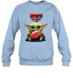 Baby Yoda Hug Texas Tech Red Raiders The Mandalorian Sweatshirt