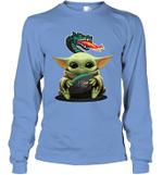 Baby Yoda Hug UAB Blazers The Mandalorian Long Sleeve T-Shirt